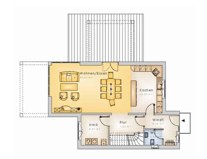 bauhaus stil10 10 dg massivhausbau made in th ringen. Black Bedroom Furniture Sets. Home Design Ideas