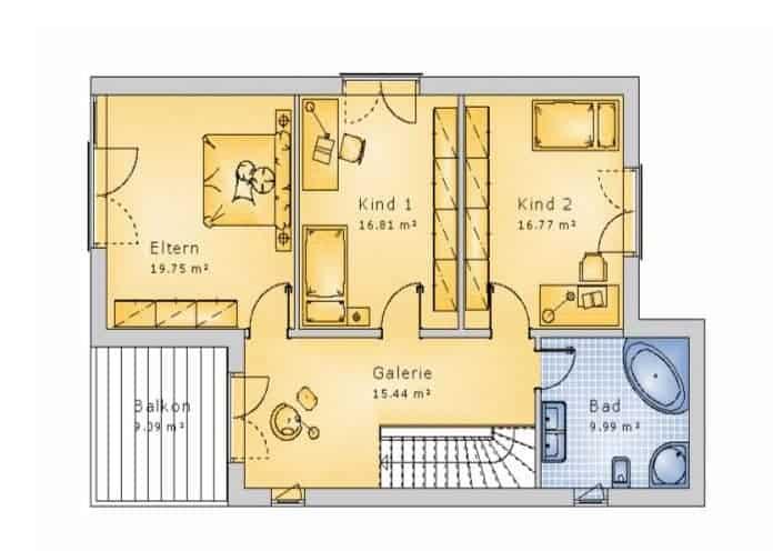 bauhaus stil10 10 eg massivhausbau made in th ringen. Black Bedroom Furniture Sets. Home Design Ideas