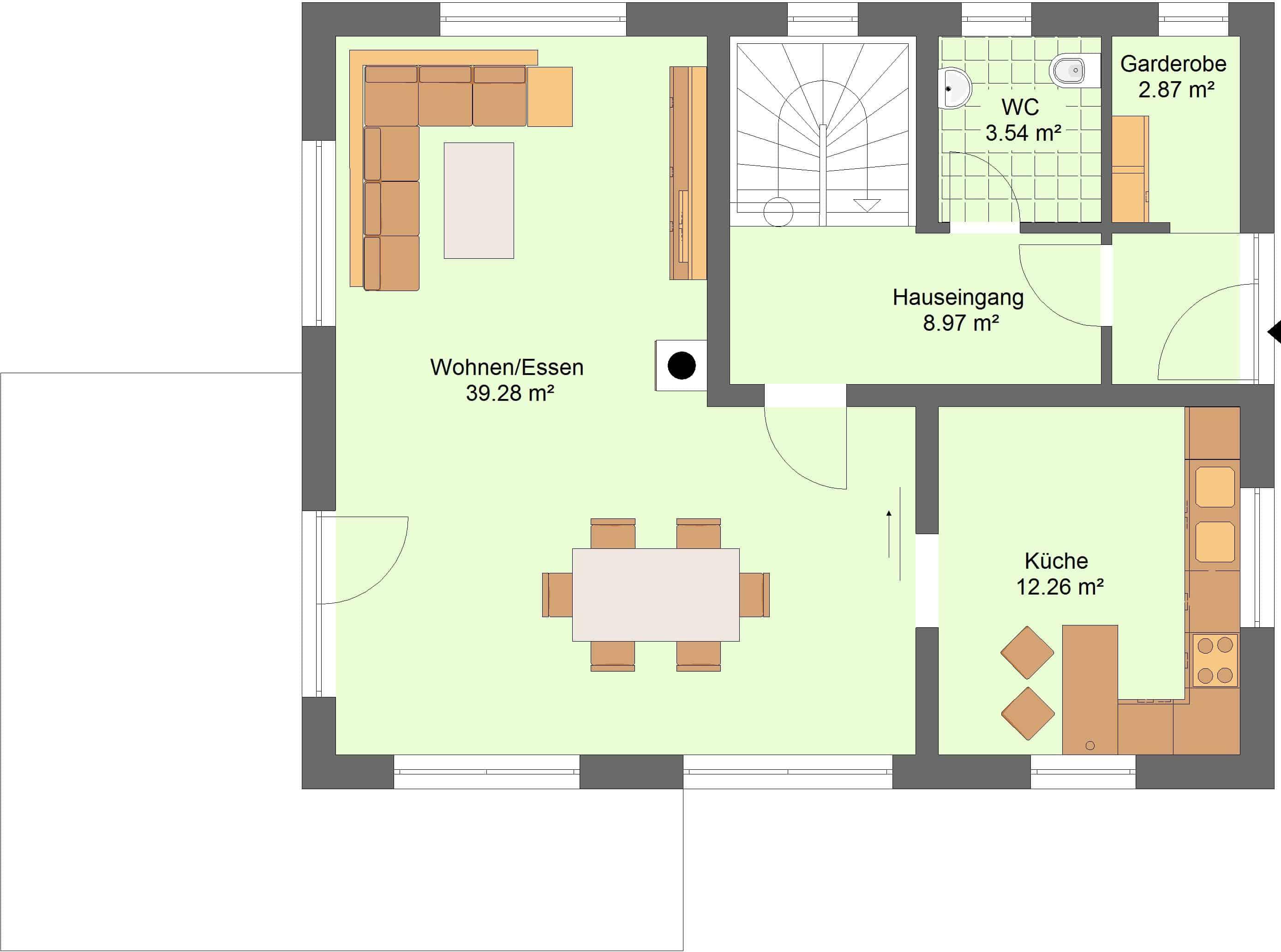 Einfamilienhaus am Hanggrundstück mit Garagen im Keller in 36277 ...