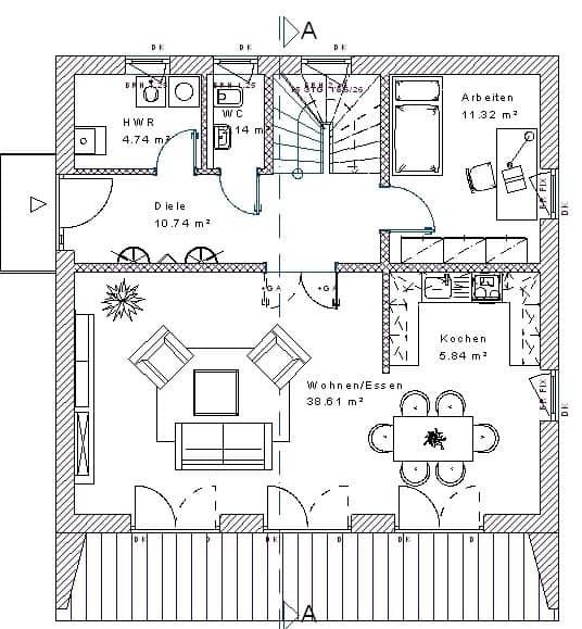 bauhaus148 massivhausbau made in th ringen. Black Bedroom Furniture Sets. Home Design Ideas