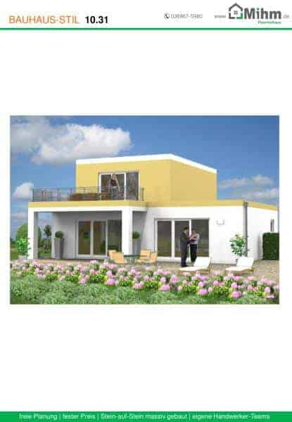 Stadtvilla flachdach 45 massivhausbau made in th ringen for Stadtvilla flachdach
