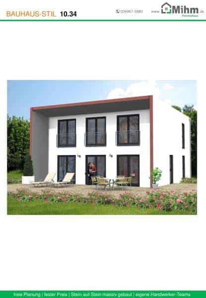 Stadtvilla flachdach 51 massivhausbau made in th ringen for Stadtvilla flachdach
