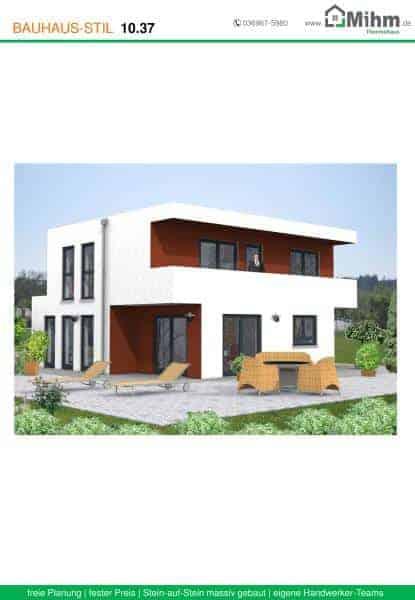 Stadtvilla flachdach 57 massivhausbau made in th ringen for Stadtvilla flachdach