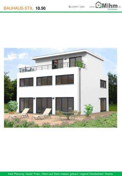 Stadtvilla flachdach 83 massivhausbau made in th ringen for Stadtvilla flachdach