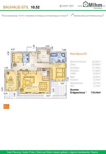 Stadtvilla flachdach 88 massivhausbau made in th ringen for Stadtvilla flachdach