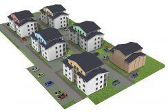 Villa697+KG122_Wohnanlage_3D-West-Luft
