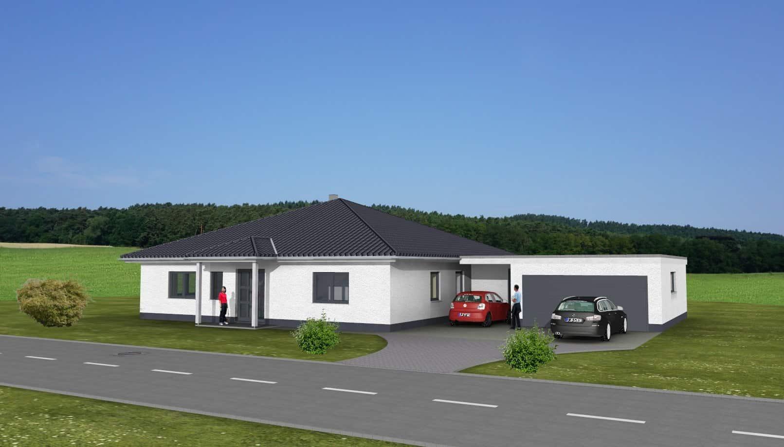 Hervorragend Bungalow mit Garage in 36145 Hofbieber | Massivhausbau made in VG31