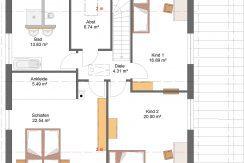 Classico149SD+ELW53_Bauantrag_Ansichten_DG-Entwurf