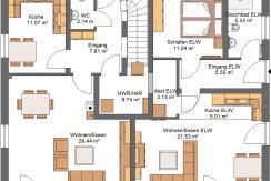 Classico149SD+ELW53_Bauantrag_Ansichten_EG-Entwurf