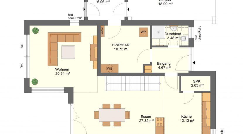 EFH176+Carport_EG-Entwurf