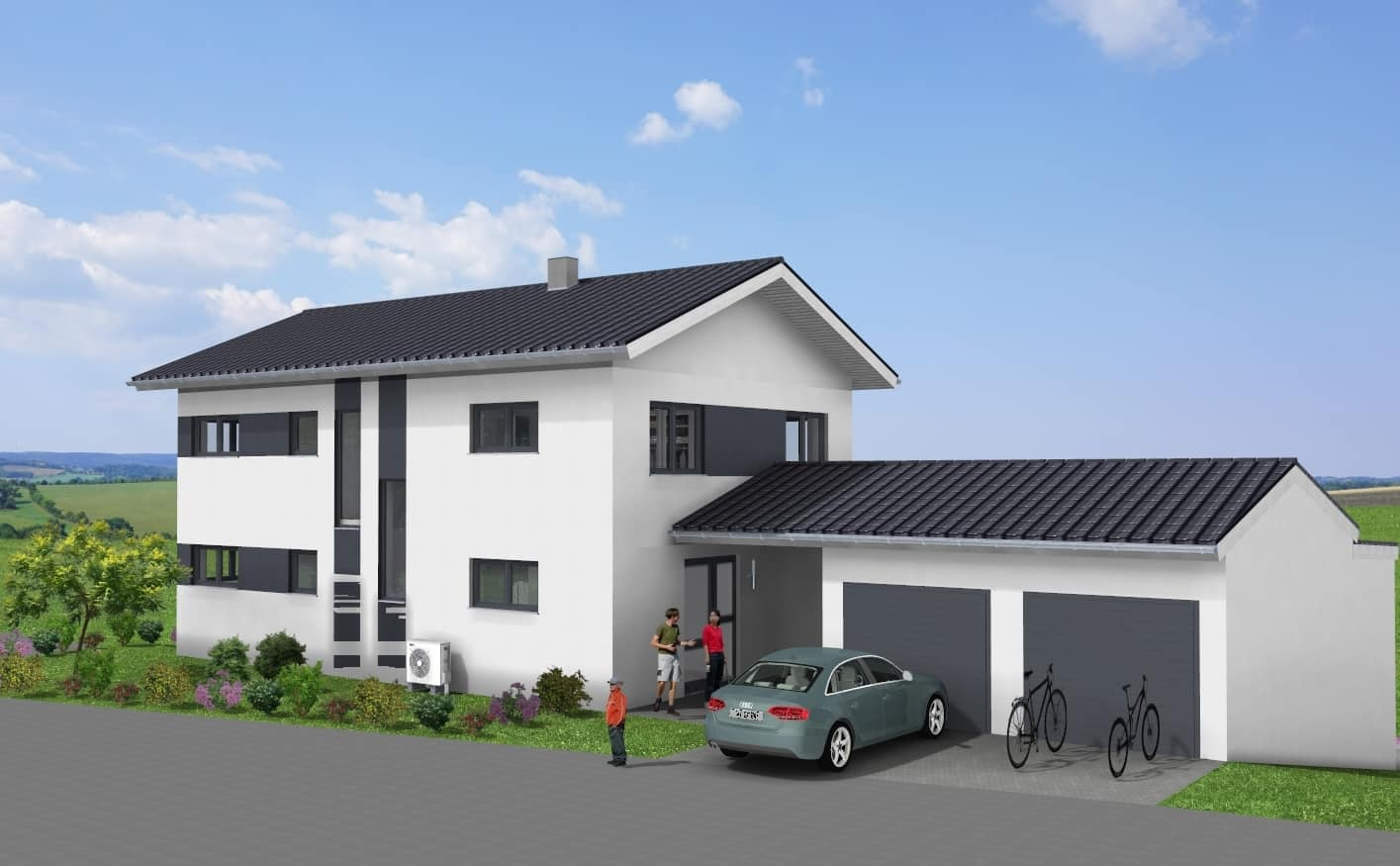 Einfamilienhaus mit Einliegerwohnung im Untergeschoss in 97222 Rimpar