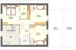 Classico144SD_Bauantrag_Ansichten_DG-Entwurf