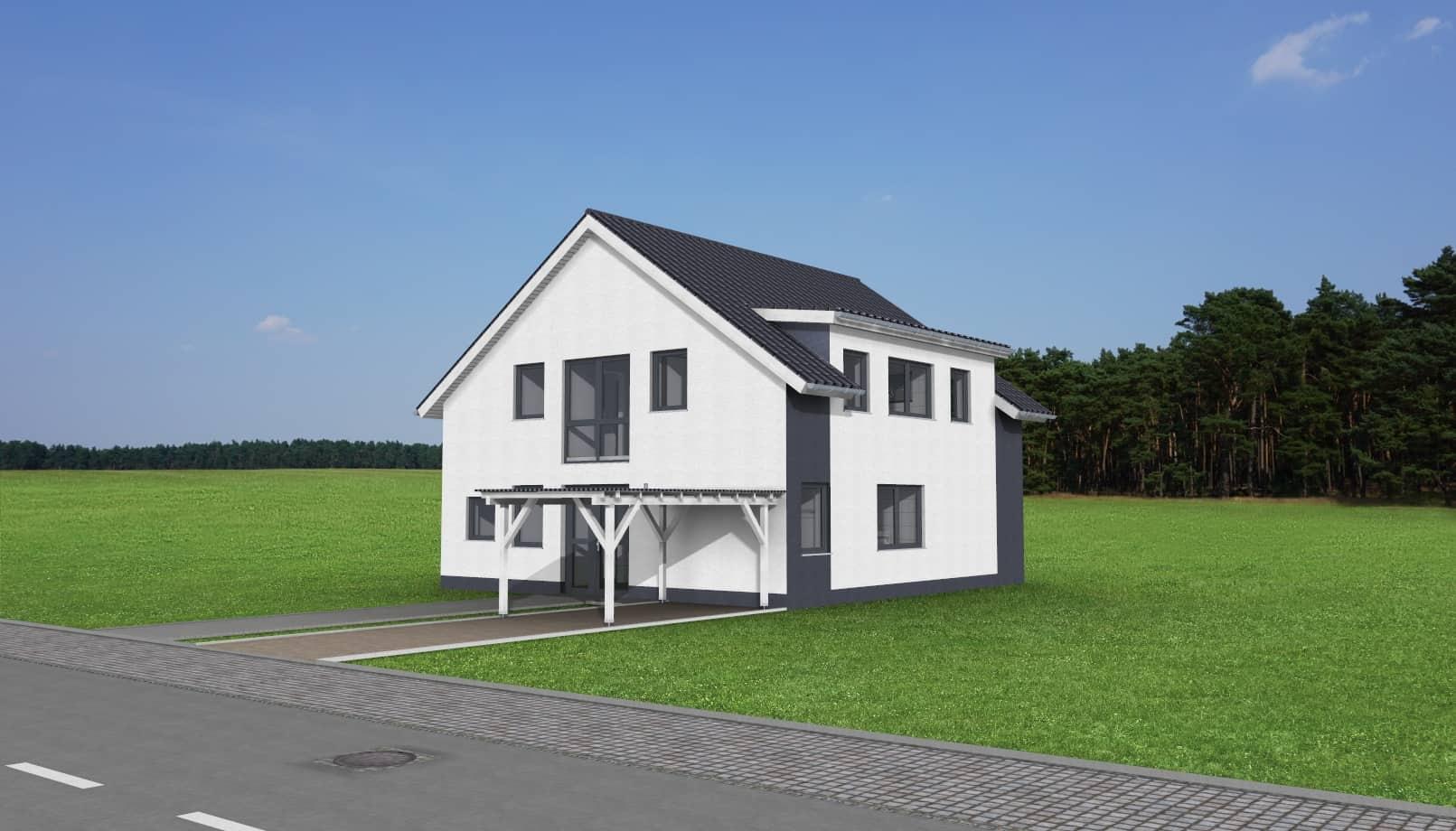 Einfamilienhaus mit ELW und Carport in 36145 Hofbieber