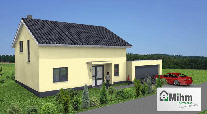 Classico173SD+Garage42PD_Bauantrag_Ansichten_3D-Eingang_Logo