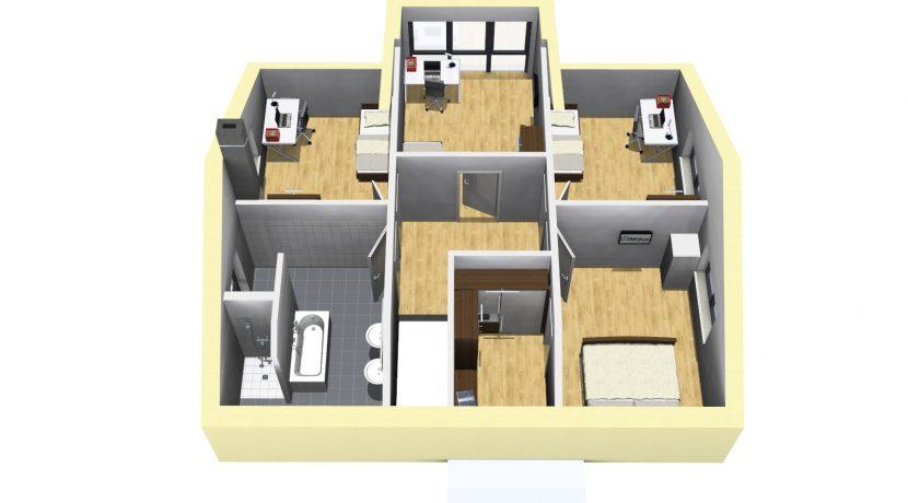 Classico173SD+Garage42PD_Bauantrag_Ansichten_DG-Eingang