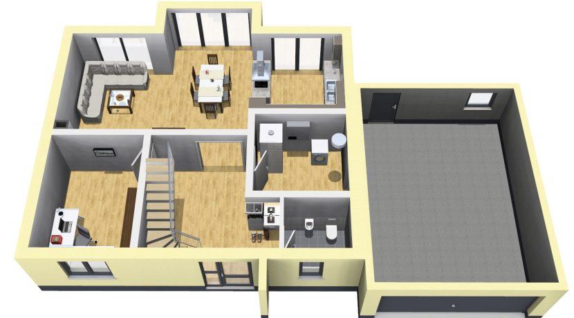 Classico173SD+Garage42PD_Bauantrag_Ansichten_EG-Eingang