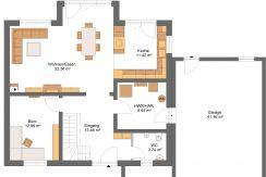 Classico173SD+Garage42PD_Bauantrag_Ansichten_EG-Entwurf