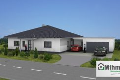 Bungalow141WD+GA60PD_Bauantrag - Ansichten_3D-Eingang_Logo