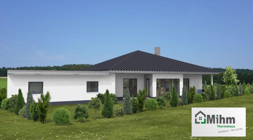Bungalow141WD+GA60PD_Bauantrag - Ansichten_3D-Terrasse_Logo