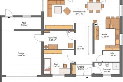 Stadtvilla182+G37_Bauantrag_36.5_Ansichten_EG-Entwurf