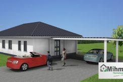 Winkelbungalow102WD_Bauantrag-TEKTUR_Ansichten_3D-Eingang-eben_Logo