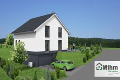 Idealo 109SD+KG58_Bauantrag_Ansichten_3D-Garageneifahrt_Logo