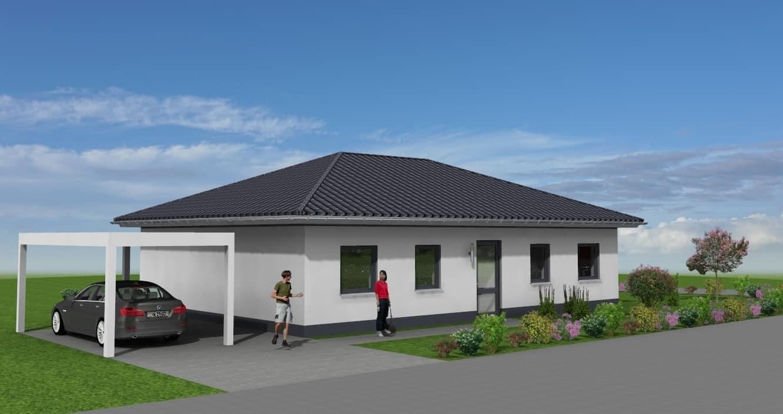 Einfamilienhaus als Bungalow-Flachbau in 36404 Unterbreizbach