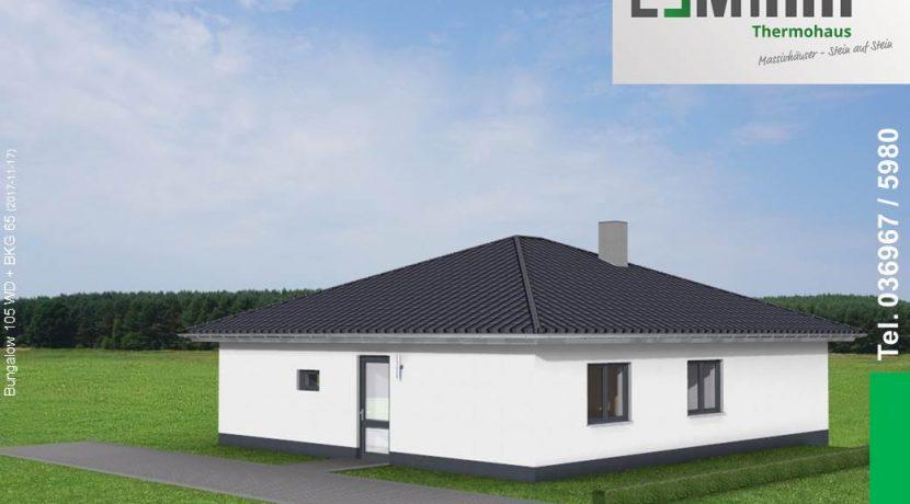 Mihm-Thermohaus_Bungalow105WD+BKG65_3D-Einfahrt