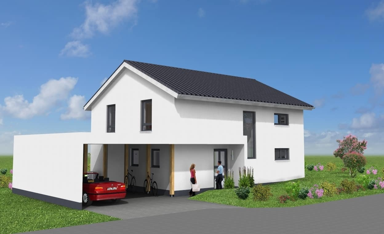 EFH mit Eingangsüberdachung und Carport in 36100 Petersberg OT Marbach