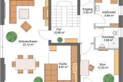 Classico156SD240_Bauantrag_Ansichten_EG-Entwurf