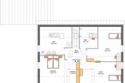 Classico193SD+ELW70_Bauantrag_Ansichten_DG-Entwurf