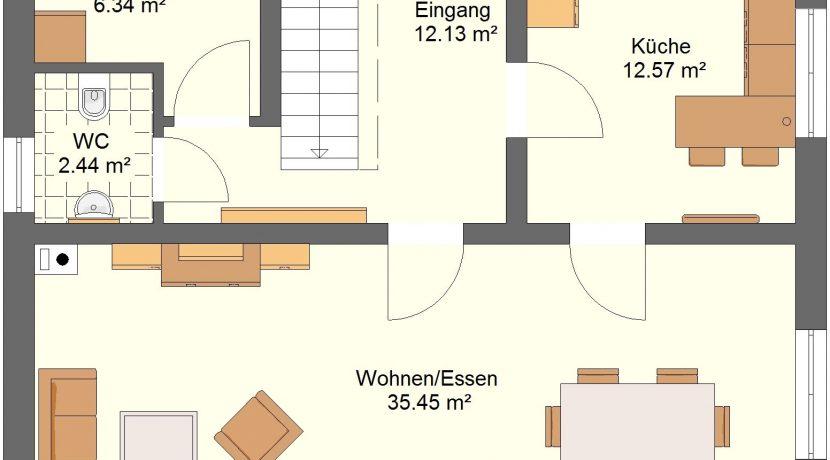 Classico136_36.5_Ansichten_EG-Entwurf