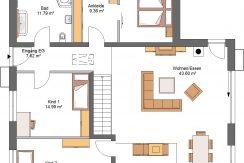 Linearo224WD_Bauantrag_Ansichten-EG-Entwurf