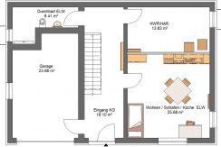 Linearo224WD_Bauantrag_Ansichten-KG-Entwurf