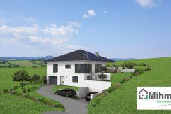 Linearo224WD_Bauantrag_Ansichten_3D-Einfahrt_Logo