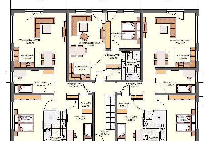 2019-01-16_Primo778SD-7WE_Bauantrag_Ansicht_Ansichten_EG-Entwurf-Haus A