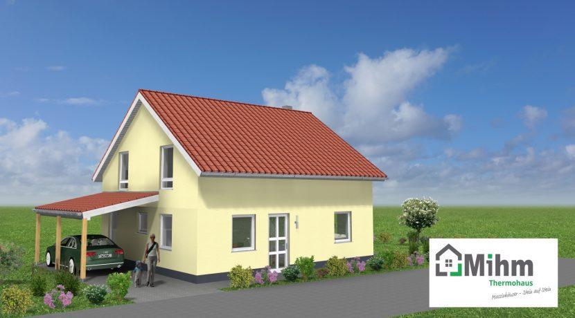 Classico134SD+CA_Bauantrag_Ansichten_3D-Eingang_Logo