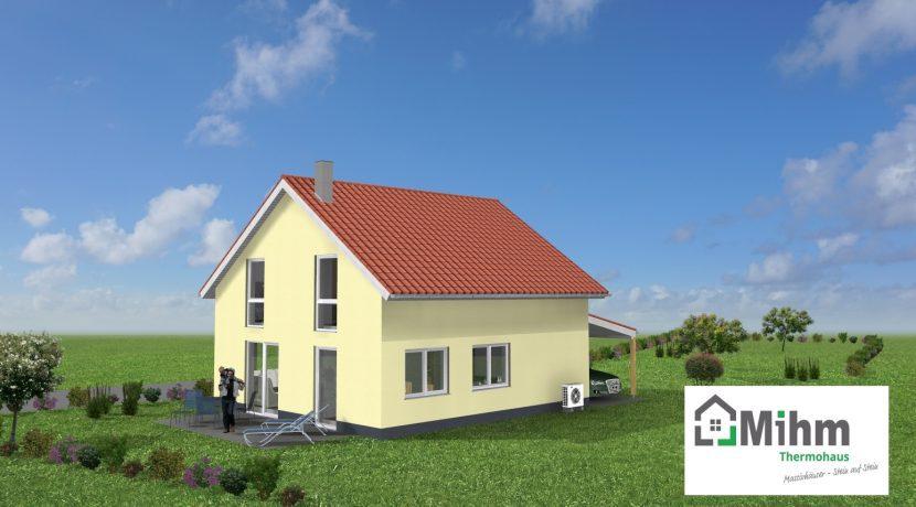 Classico134SD+CA_Bauantrag_Ansichten_3D-Terrasse_Logo