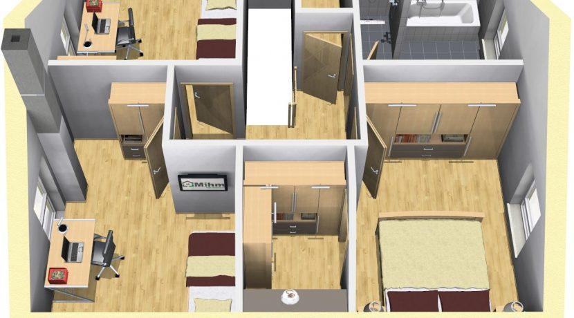 Classico134SD+CA_Bauantrag_Ansichten_DG-Terrasse