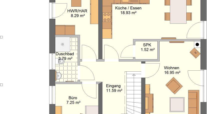 Classico134SD+CA_Bauantrag_Ansichten_EG-Entwurf