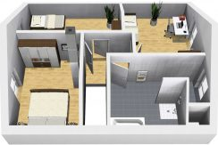 Classico135SD_Bauantrag-Ansichten_DG-Eingang