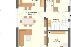 Classico135SD_Bauantrag-Ansichten_EG-Entwurf