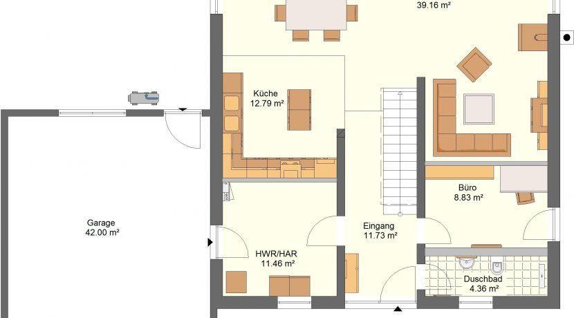 Linearo174WD_Bauantrag_Ansichten_EG-Entwurf