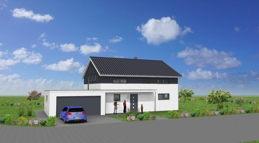Primero167SD+Ga44_Bauantrag_Ansichten_3D-Eingang