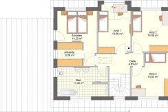 Primero167SD+Ga44_Bauantrag_Ansichten_DG-Entwurf