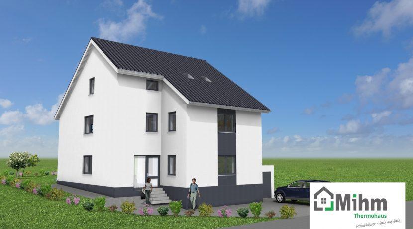 Primero326+ELW+BKG108_Bauantrag-Herget_Ansichten_3D-Eingang_Logo