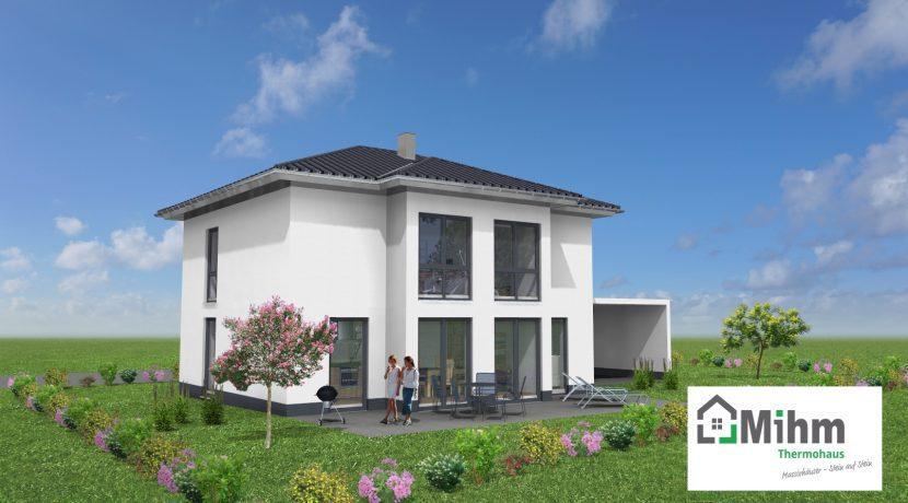 Classico148WD_Bauantrag_Ansichten_3D-Terrasse_Logo