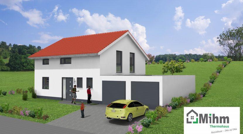 Classico135SD_Bauantrag_Ansichten_3D-Eingang_Logo