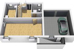 Primero123SD+BKG100+Ba43_Bauantrag_Ansichten_KG-Terrasse