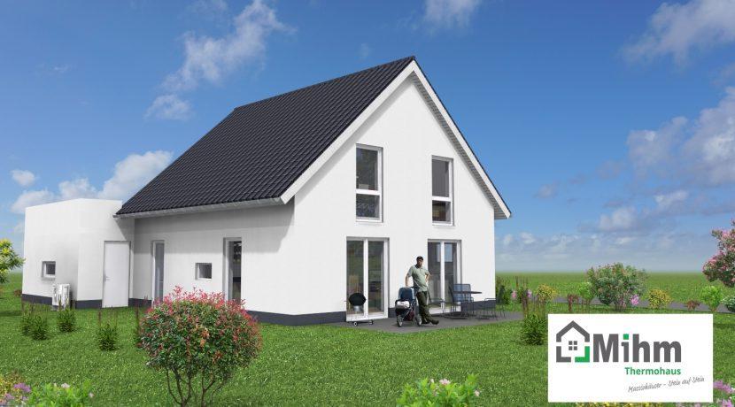 Classico135SD+Ga45_Bauantrag_Ansichten_3D-Terrasse_Logo